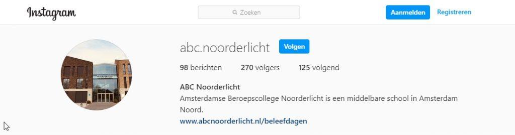 Volg ABC Noorderlicht op Instagram