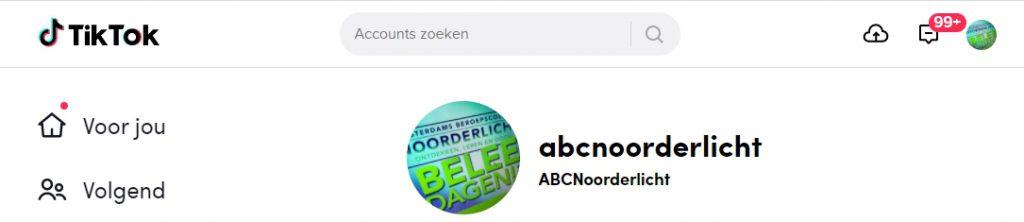 Volg ABC Noorderlicht op Tiktok.com